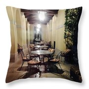 Dining At The Castle Throw Pillow