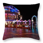 Dining In Color - Vivid Sydney By Kaye Menner Throw Pillow