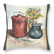 Dining In Throw Pillow