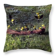 Goldfinch Convention Throw Pillow