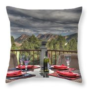 Dining With A View Throw Pillow