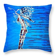 Dinka Dame - South Sudan Throw Pillow