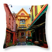Dinks Alley Throw Pillow