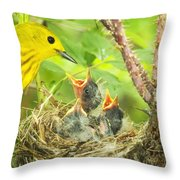 Dinner At The Warblers Throw Pillow