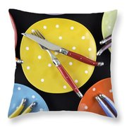 Dinner Party Table Setting Throw Pillow