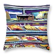 Dinner Pastry Case Throw Pillow