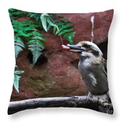 Dinner Time For Mister Bird Throw Pillow