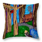 Dinner In The Woods Throw Pillow