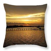 Dinning With Sunset  Throw Pillow