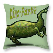 Dino Party Throw Pillow