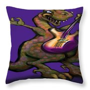 Dinorock Throw Pillow