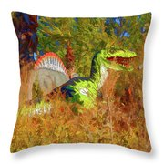 Dinosaur 9 Throw Pillow