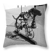 Dinosaur Biking Sculpture Grand Junction Co Throw Pillow