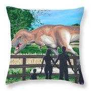 Dinosaur Country Throw Pillow