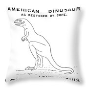 Dinosaur: Dryptosaurus Throw Pillow