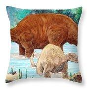 Dinosaur National Monument 140 Million Years Ago Throw Pillow