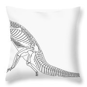 Dinosaur: Plateosaurus Throw Pillow