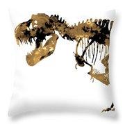 Dinosaur Sepia Print Throw Pillow