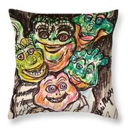 Dinosaurs Throw Pillow