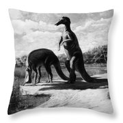 Dinosaurs: Trachodon Throw Pillow