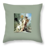 Diomedes Devoured By His Horses Watercolour Gustave Moreau Throw Pillow