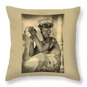 Dionysus Sepia Old Throw Pillow
