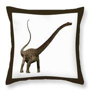 Diplodocus Profile Throw Pillow