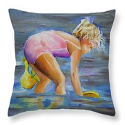 Dipping In The Great Lakes Throw Pillow