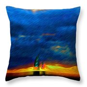 Directionless Familiar II Throw Pillow