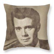 Dirk Bogarde, Vintage Actor By John Springfield Throw Pillow