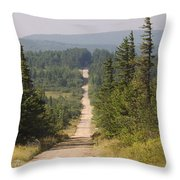 Dirt Road To Dolly Sods Throw Pillow