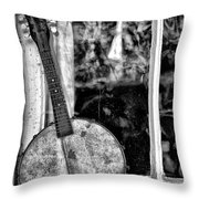 Dirty Banjo Mandolin Throw Pillow
