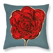 Dirty Rose Throw Pillow