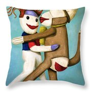 Dirty Socks Dancing The Tango Throw Pillow