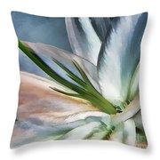 Dirty White Lily 2 Throw Pillow