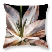 Dirty White Lily 3 Throw Pillow