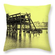 Disappearing Pier Throw Pillow