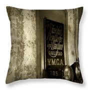 Disappearing Railroad Blues Throw Pillow