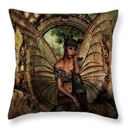 Disappointed Fairy Throw Pillow