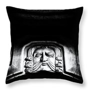 Disapproving Scowl Throw Pillow