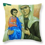 Discalced Carmelite Painting Throw Pillow