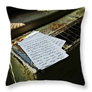 Discarded Notes Throw Pillow