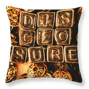 Disclosure Throw Pillow