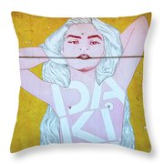 Disco Bey - Graffiti Art Throw Pillow