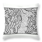 Discordant Throw Pillow