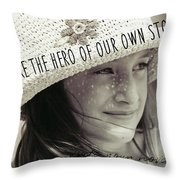 Discover Yourself Quote Throw Pillow