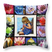 Discovering The Beuty Of The Lily Throw Pillow