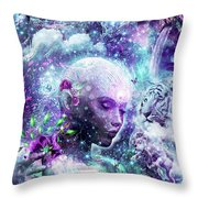 Discovering The Cosmic Consciousness Throw Pillow