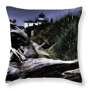 Discovery Park Lighthouse Throw Pillow