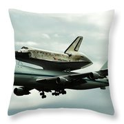 Discovery Riding Home Throw Pillow
